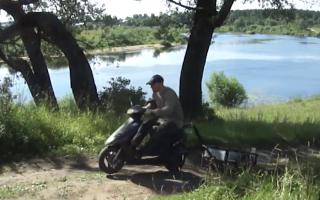 Как сделать прицеп для скутера