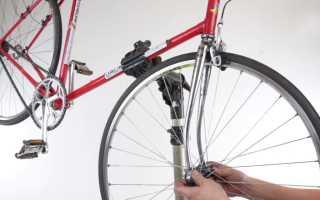 Снятие и установка переднего колеса велосипеда