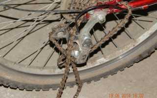 Как должна стоять цепь на скоростном велосипеде