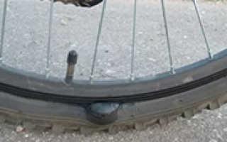 Как убрать грыжу на колесе велосипеда