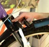 Как установить переднее крыло на велосипед