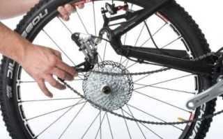 Как поставить заднее колесо на велосипеде