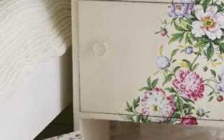 Пример декупажа полированной мебели. Мастер-класс по декупажу полированной мебели. Выделяют два основных способа приклеивания