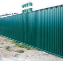 Самостоятельный расчёт и строительство забора из профнастила. Забор для дома и дачи Построить забор на участке
