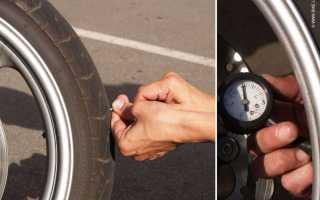 Какое давление должно быть в шинах мотоцикла