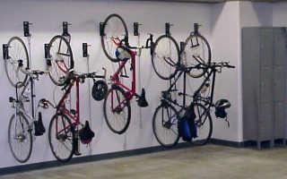 Как крепить велосипед к стене