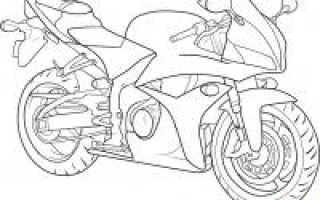 Как нарисовать мотоцикл легко и просто для ребенка