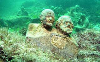 Уникальный подводный музей «Аллея вождей» на мысе Тарханкут