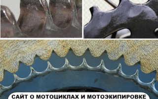Как определить износ цепи мотоцикла