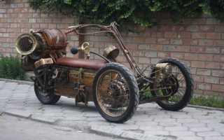 Как называется мотоцикл с тремя колесами