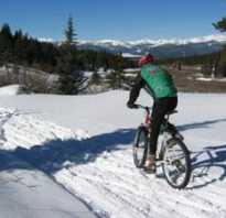 Велосипед как ездить зимой