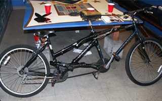 Создание велосипеда-тандема своими руками