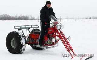 Как из мотоцикла сделать снегоход