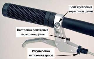 Как на скоростном велосипеде сделать тормоза задние