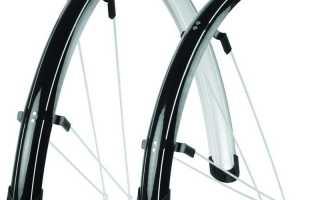 Как закрепить переднее крыло на велосипеде