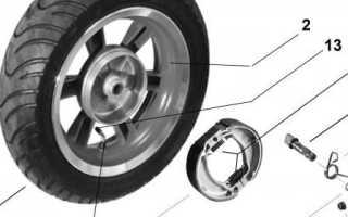 Как на скутере снять заднее колесо